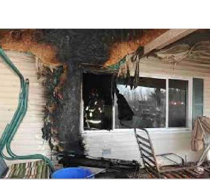 Porch Fire Damage