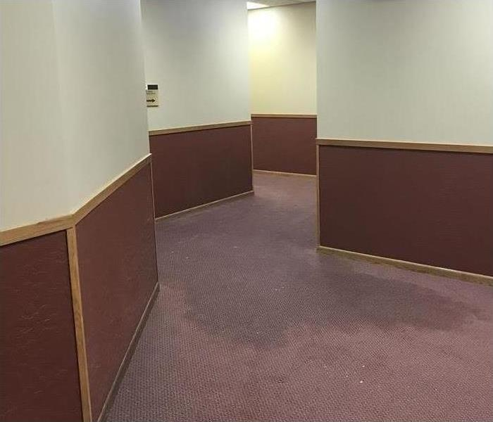 wet carpet in commercial building